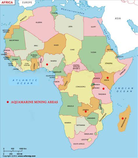 africa map 2015 gemstones aquamarine the birthstone for march