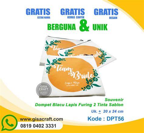 Souvenir Dompet Sablon Murah souvenir dompet blacu lapis furing 2 tinta sablon dpt56