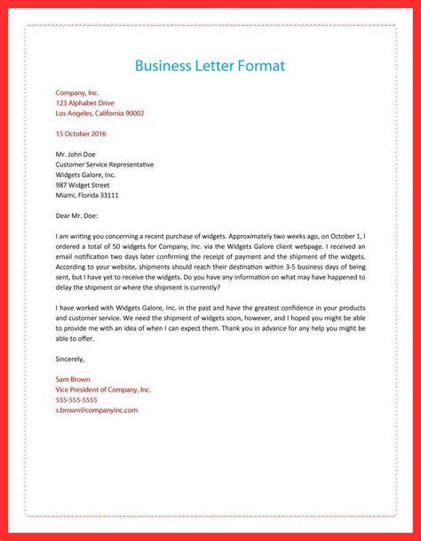 Proper Business Letter Format Cover Letter by Proper Letter Format Resume Format