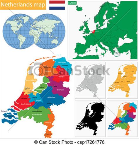netherlands map clipart netherlands map eps clip instant csp17261776