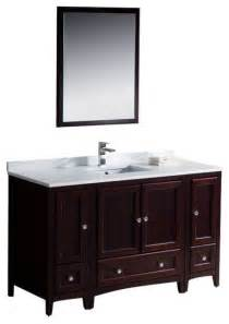 54 inch bathroom vanity single sink 54 inch single sink bathroom vanity in antique white mahogany transitional bathroom