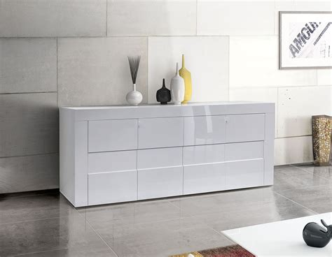 credenza madia credenza moderna madia di design 4 ante bianco lucido