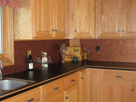 Copper Kitchen Backsplash by Copper Tile Backsplash Kitchen Ideas Great Home Decor