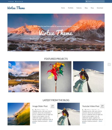 theme virtue blog 15 wordpress free themes for downloading
