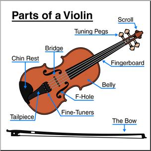 labelled diagram of a violin clip parts of a violin color labeled i abcteach
