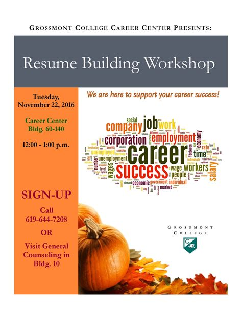 resume building workshop