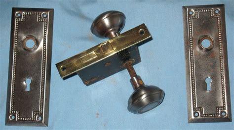 Door Knob Faceplate by Antique Door Set Mortise Lock Brass Faceplate Knobs