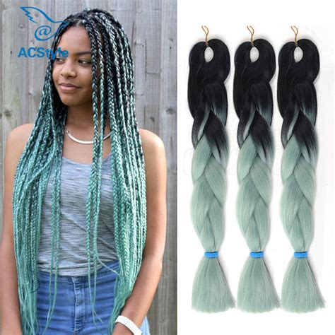 ombre synthetic braiding hair expression braiding hair ombre kanelalon jumbo braid