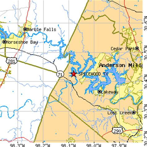 spicewood texas map spicewood texas tx population data races housing economy