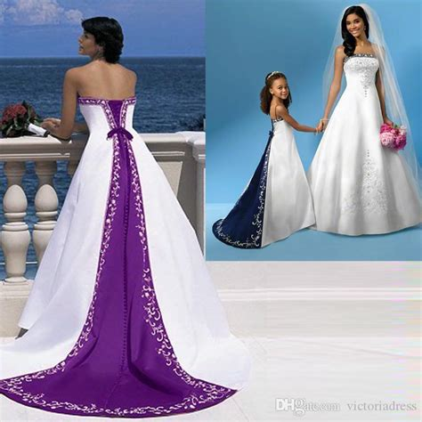 Custom Wedding Dresses Purple And White by Discount Excellent Quality Purple And White