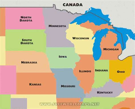 blank map of midwest holidaymapq