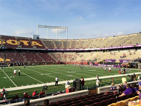 bank sections tcf bank stadium section 140 minnesota football