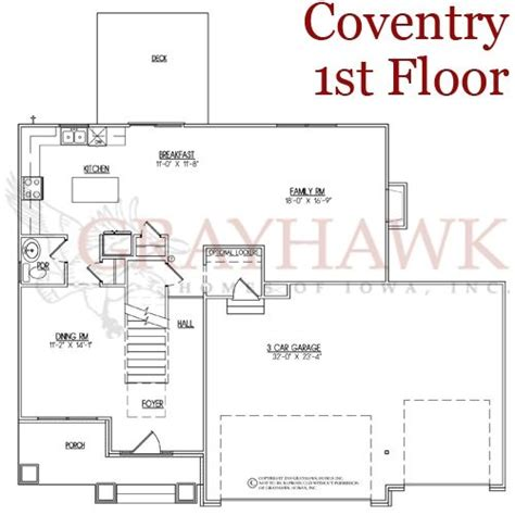 coventry 1st floor plan grayhawk homes of iowa new