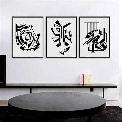 minimalist wall decor modern minimalist nordic black white symbol a4 large art