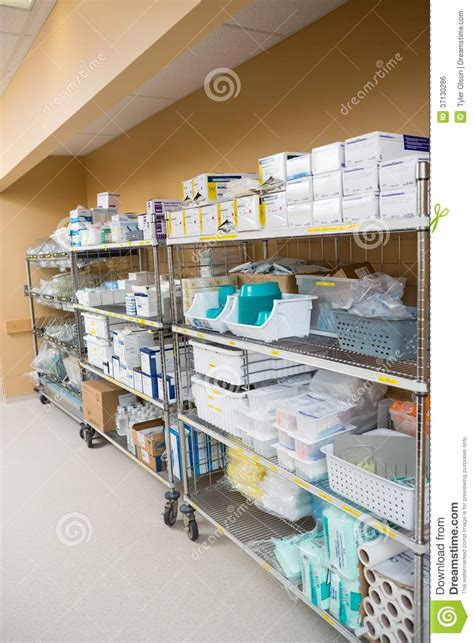 room supplies hospital supplies arranged on trollies royalty free stock image image 37130286
