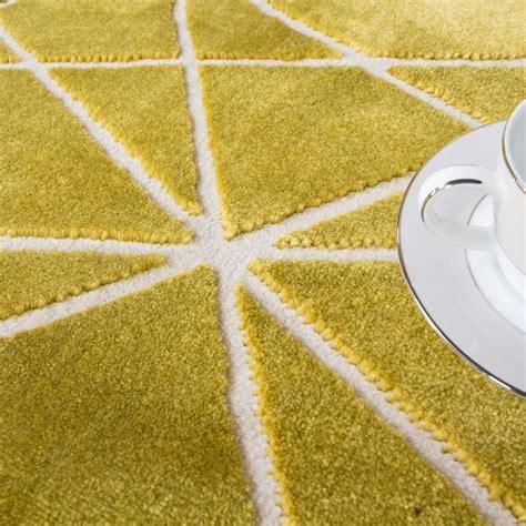 Yellow And Grey Runner Rug Modern Ochre Yellow Grey Geometric Runner Rug Kukoon