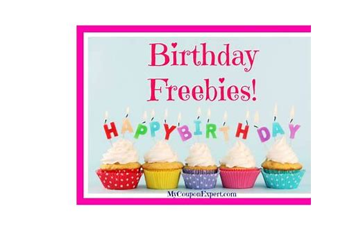 birthday discounts or freebies