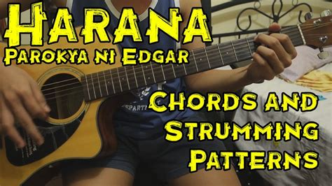 tutorial guitar chords harana harana parokya ni edgar guitar tutorial lesson