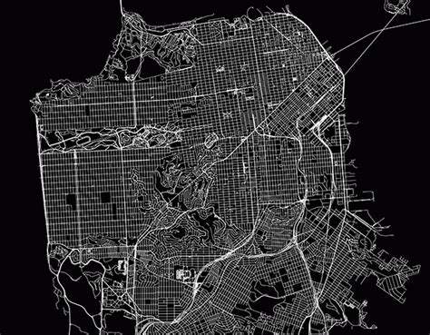 san francisco map black and white drawing a map of san francisco by walking 171 mission mission