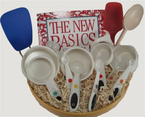 kitchen basket ideas 5 kitchen gift basket 1 cookbook 1 measuring cups 1
