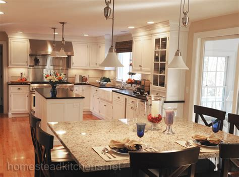 homestead kitchen sudbury double islands traditional kitchen boston