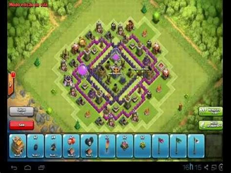 layout iniciante cv 7 clash of clans layout centro de vila 7 farm dark