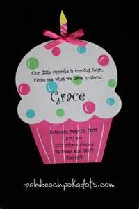 cupcake birthday invitations by palmbeachpolkadots on etsy