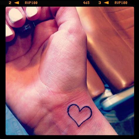 heart tattoo on right wrist right wrist heart tattoo