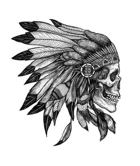 native american skull tattoo skull indian my eye quot