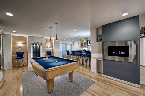 modern basement very modern basement remodel by moss