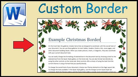 insert decorative text in your document how to create your own custom border in word youtube