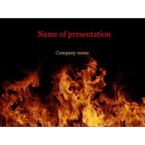 Powerpoint Themes Free Download Fire | fire flames powerpoint template background for presentation
