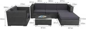 Patio Furniture Sizes by Buy Tahiti 6pc Pe Wicker Outdoor Sofa Lounge Setting
