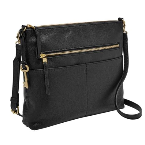 Fossil Zb7316001 Black brown purses brown leather purses fossil