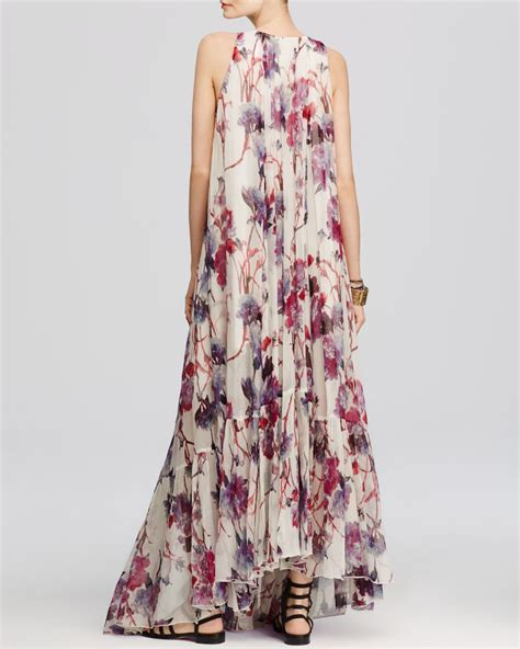 Flower Printed Puffball Skirt For A Summer Garden by Free Juno Floral Print Maxi Dress Lyst