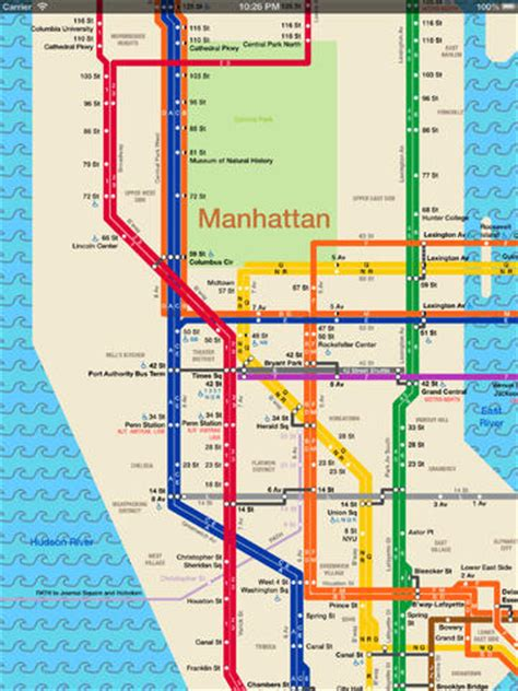 manhattan subway map nyc subway map on the app store