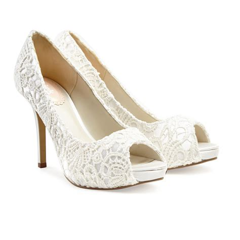 ivory bridal shoes ivory lace wedding shoes obsession paradox pink