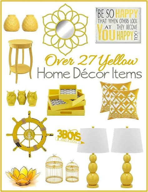 yellow home decor accents lamps pillows mirrors