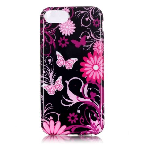 coque iphone 7 papillons et fleurs