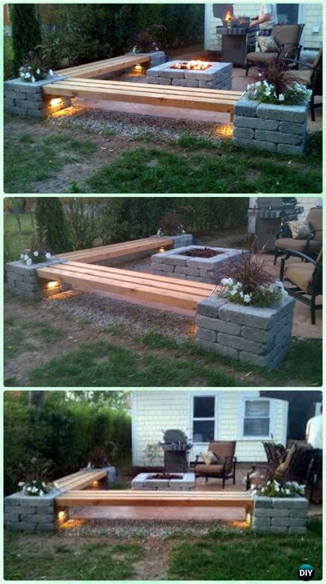 diy pit for balcony diy garden firepit patio projects free plans