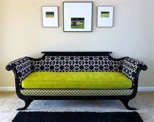 Modern Vintage Sofa Antique Duncan Phyfe Sofa Redesigned For Modern Times In Shocking Chartreuse Duncan Phyfe