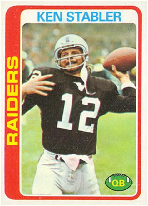 football cards value 1978 topps ken stabler 365 football card value price guide