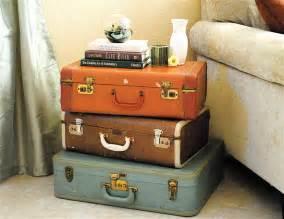 vintage suitcases love bird tales