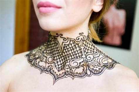 henna neck tattoo 51 adorable neck henna tattoos