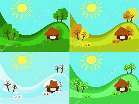 imagenes de invierno verano otoño y primavera 4 estaciones del a 241 o primavera verano oto 241 o invierno