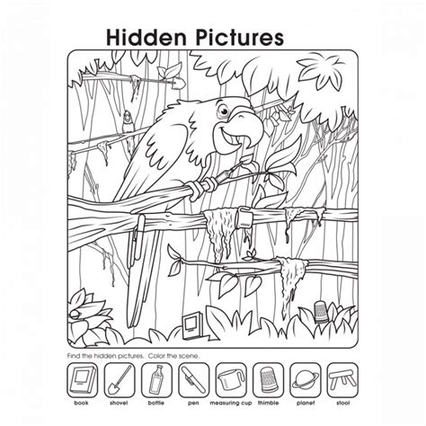 printable simple hidden pictures hidden pictures worksheet page hidden picture