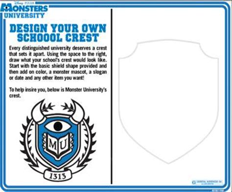 Design Your Own Home For Fun by Monsters University Free Kids Activity Sheets Monstersu