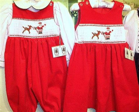 matching sister dresses for christmas smocked matching 63 00 via etsy