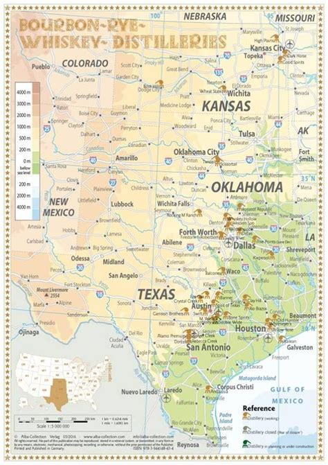 oklahoma and texas map photos whiskey distillery and rye whiskey on