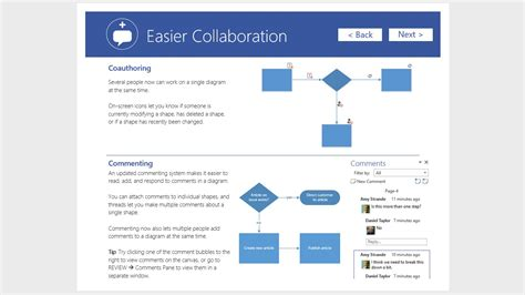 tutorial online collaboration what s new in visio 2016